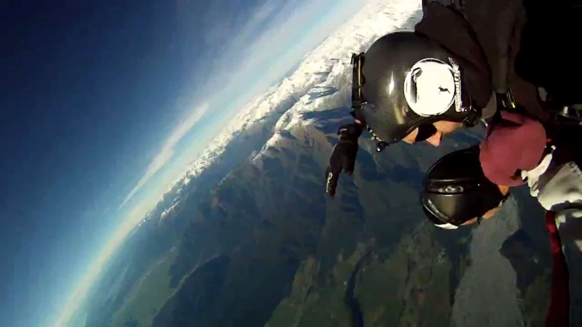 Falling in style at the Fox Glacier Skydive