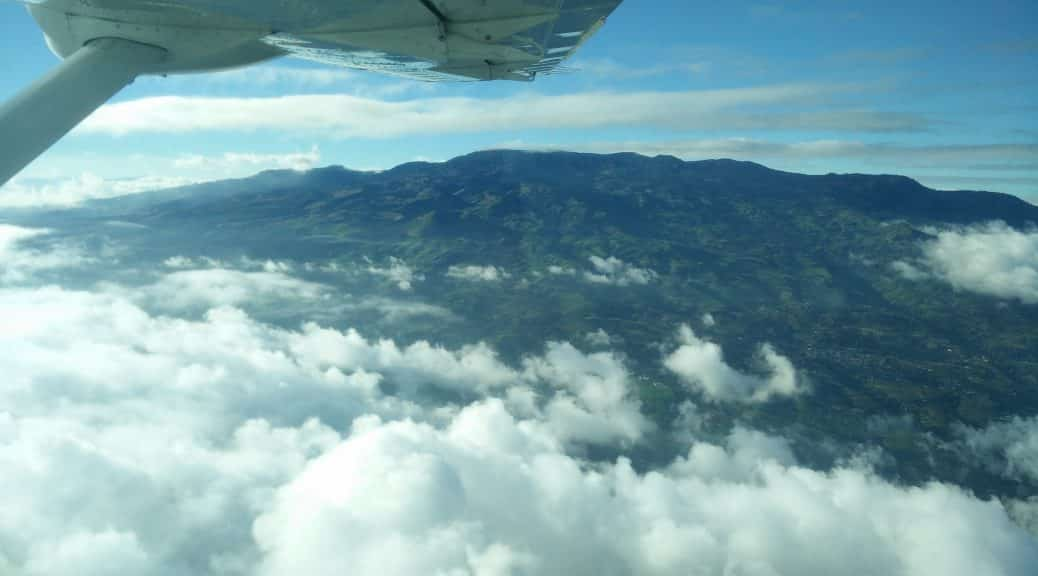 Spectacular views from the domestic flight in Costa Rica